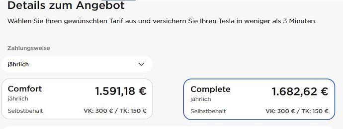 Angebot Tesla Insurance