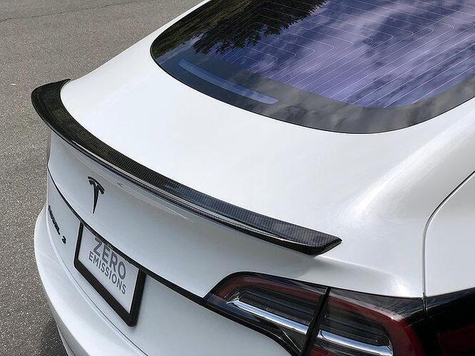 Verkauft Tesla Model 3 Carbon Fiber Spoiler RPM Blade ...